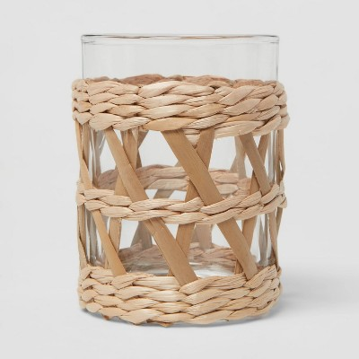 Woven and Glass Toothbrush Holder - Threshold™