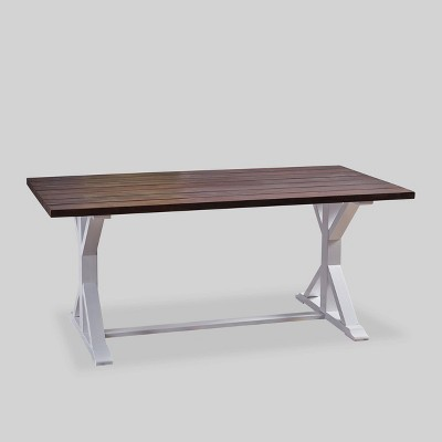 Cassia Rectangle Acacia Wood Dining Table Dark Brown - Christopher Knight Home