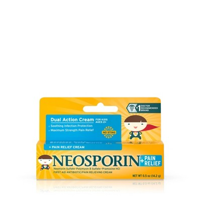 Neosporin Antibiotic and Pain Relieving Cream for Children - 0.5oz