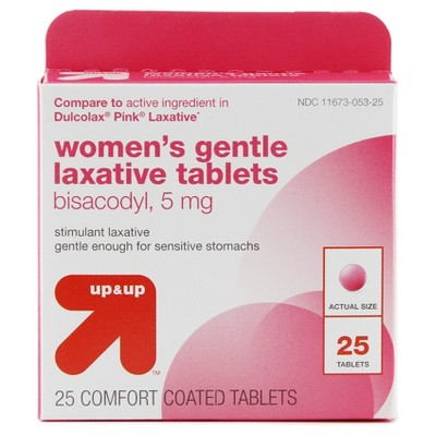 Women's Laxative 5mg Tablets - 25ct - Up&Up™ (Compare to active ingredient in Dulcolax Pink Laxative)