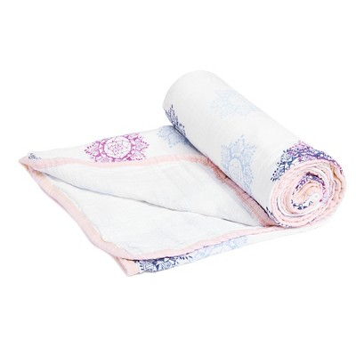 Aden® by Aden + Anais® Stroller Blanket - Pretty Pink