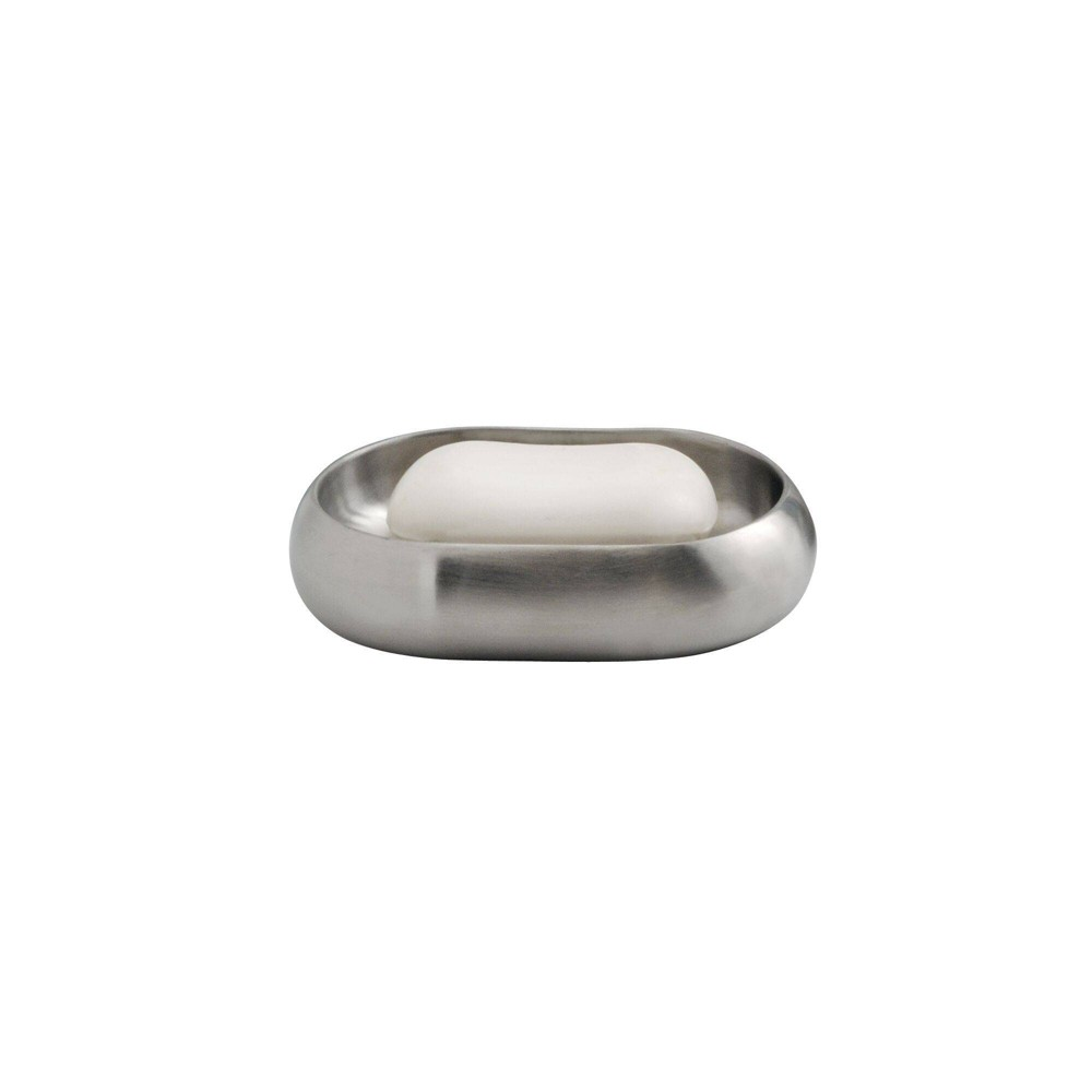 Image of Nogu Stainless Steel Soap Dish Brushed - iDESIGN