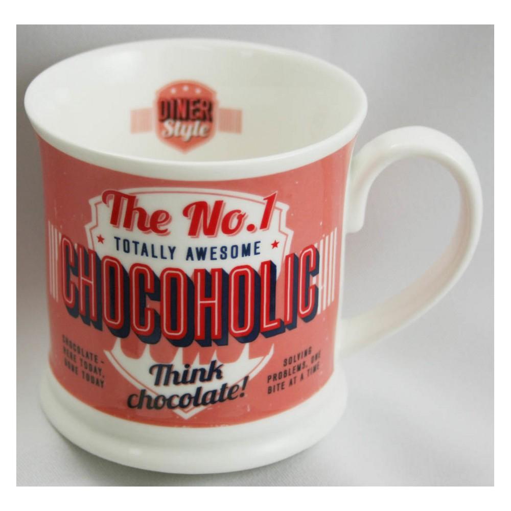 Chocoholic Diner Style Mug - History & Heraldry, Red
