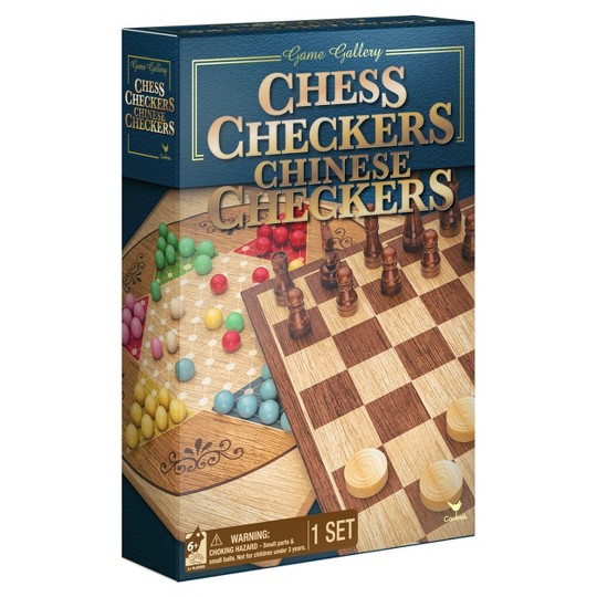 Game Gallery Chess, Checkers and Chinese Checkers Board Game Set image number null