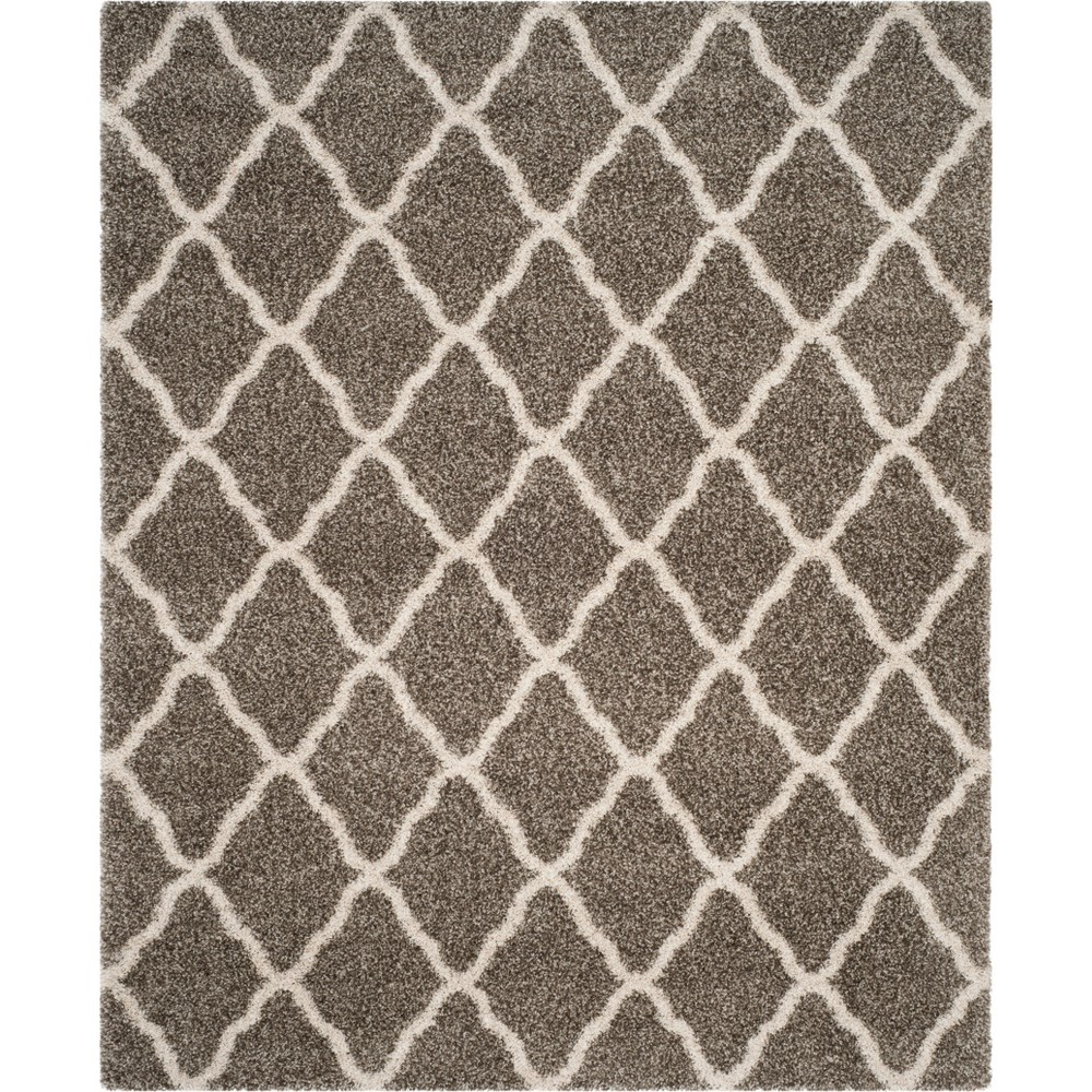Quatrefoil Design Loomed Area Rug Gray/Ivory