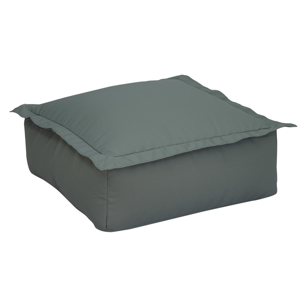 Image of Ace Bayou Outdoor Bean Bag Ottoman - Gray