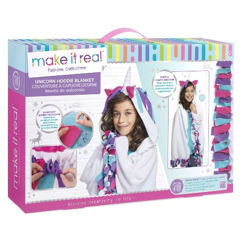 Makeit Real Unicorn Hoodie Blanket Activity Kit - image 1 of 1