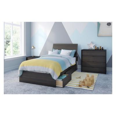 4pc Twin Celeste Bedroom Set Black - Nexera