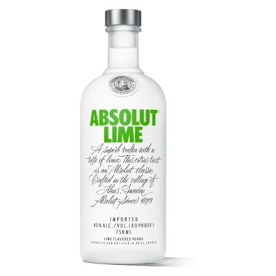 Absolut Lime Vodka - 750ml Bottle
