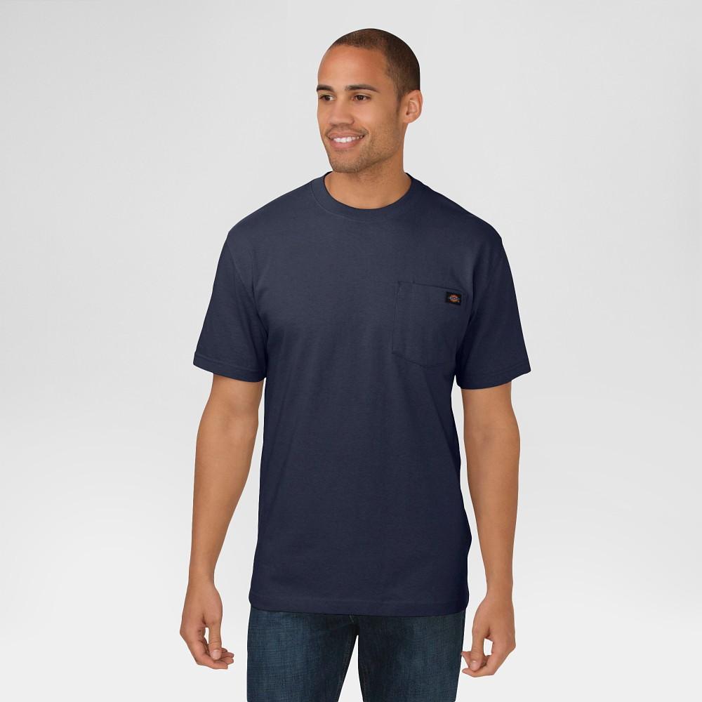 Dickies Men's Cotton Heavyweight Short Sleeve Pocket T-Shirt- Dark Navy XL