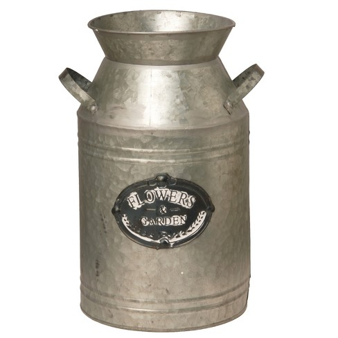 "Garden Accents Artificial Antique Milk Can Silver 15"" - National Tree Company® - image 1 of 1"