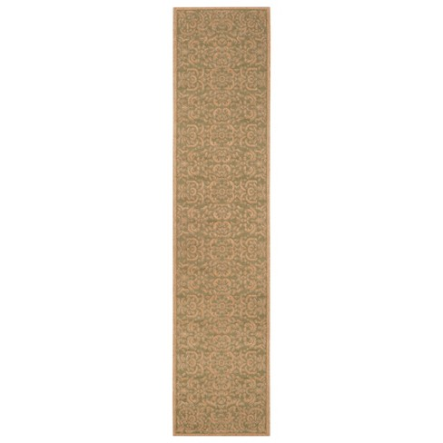 """Durrant 2'2"""" X 9'11"""" Runner Outdoor Patio Rug - Green / Natural - Safavieh® - image 1 of 1"""