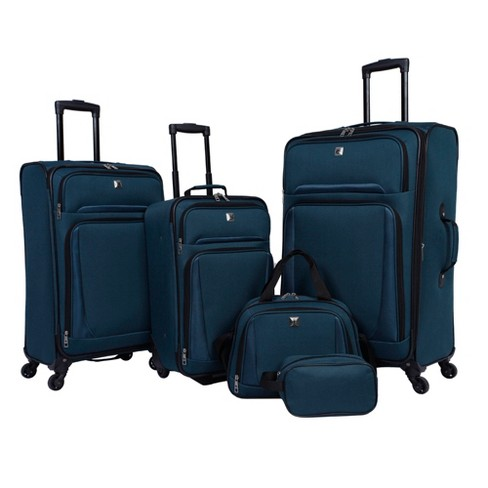 Skyline 5pc Spinner Luggage Set - Teal - image 1 of 23