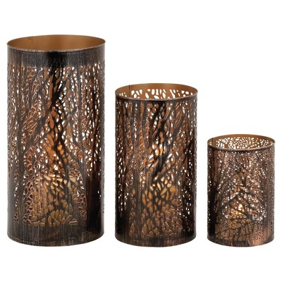 Hurricane Candle Holder Set 3ct - Olivia & May