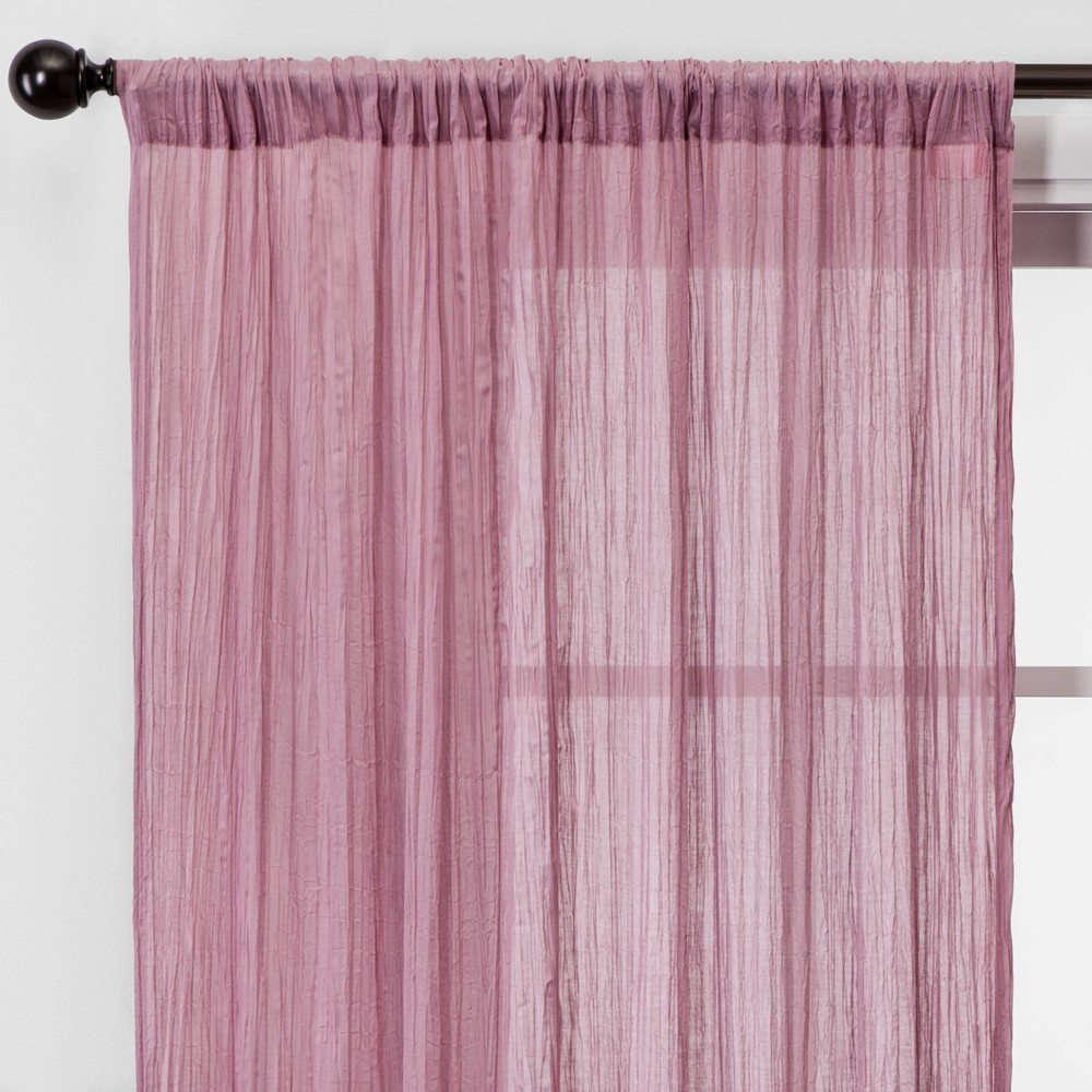 "Image of ""108""""x42"""" Crushed Sheer Curtain Panels Pink - Opalhouse"""