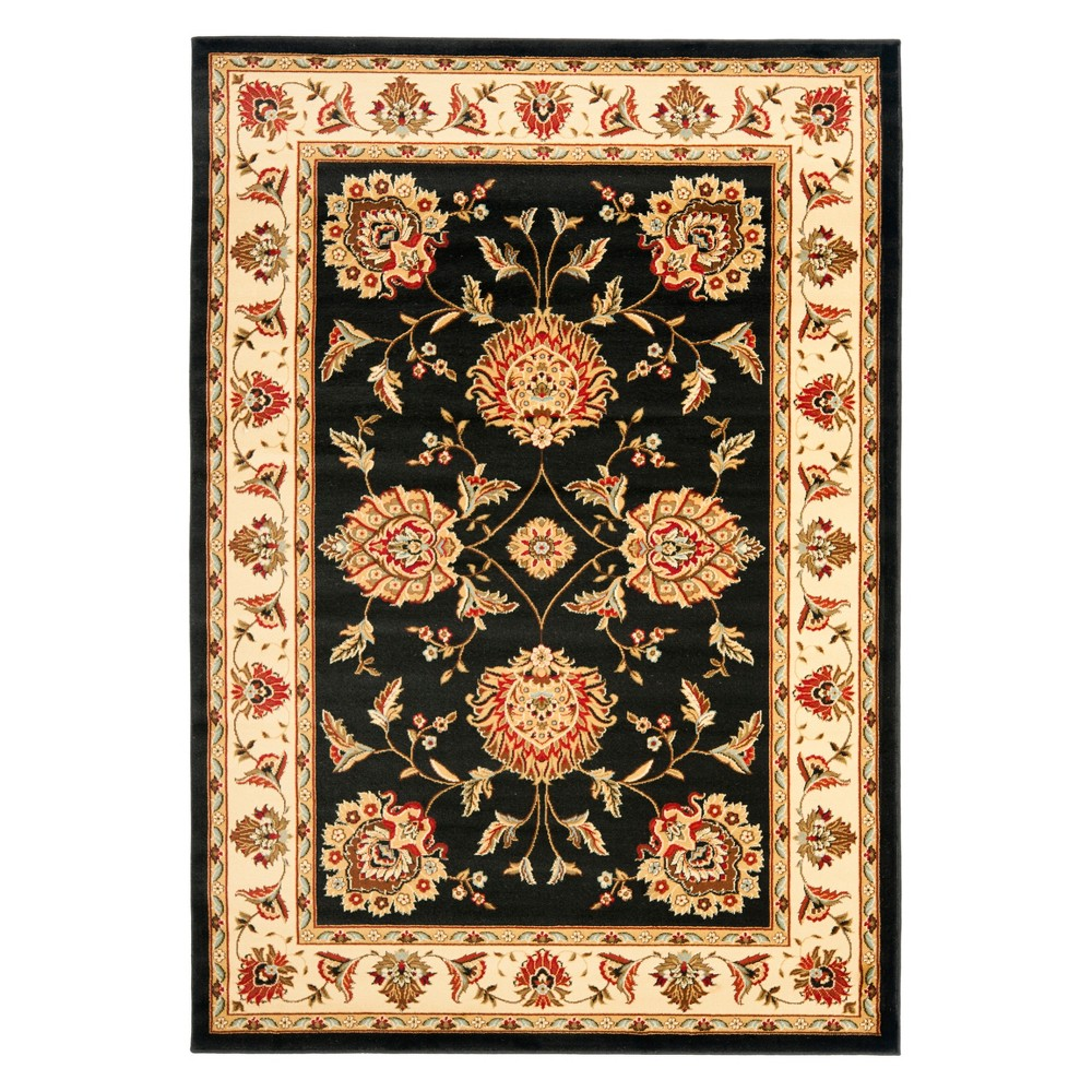33X53 Floral Loomed Accent Rug Black/Ivory - Safavieh Coupons