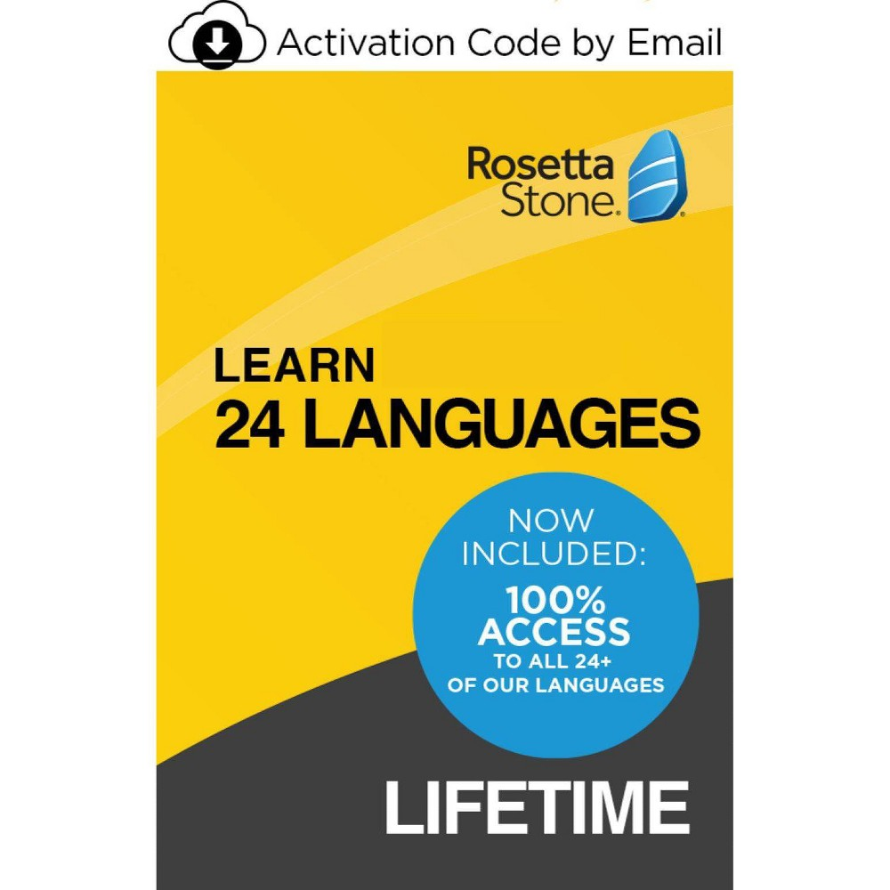 Rosetta Stone Unlimited Lifetime Electronic Software Download