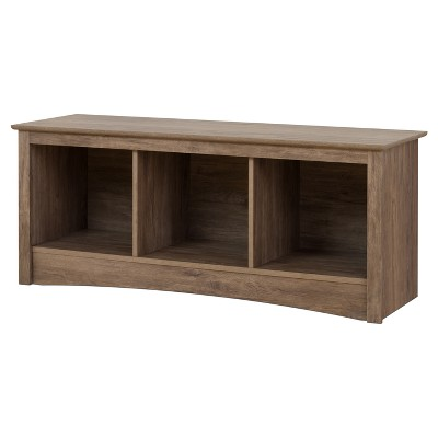 Cubbie Storage Bench - Drifted Gray - Prepac