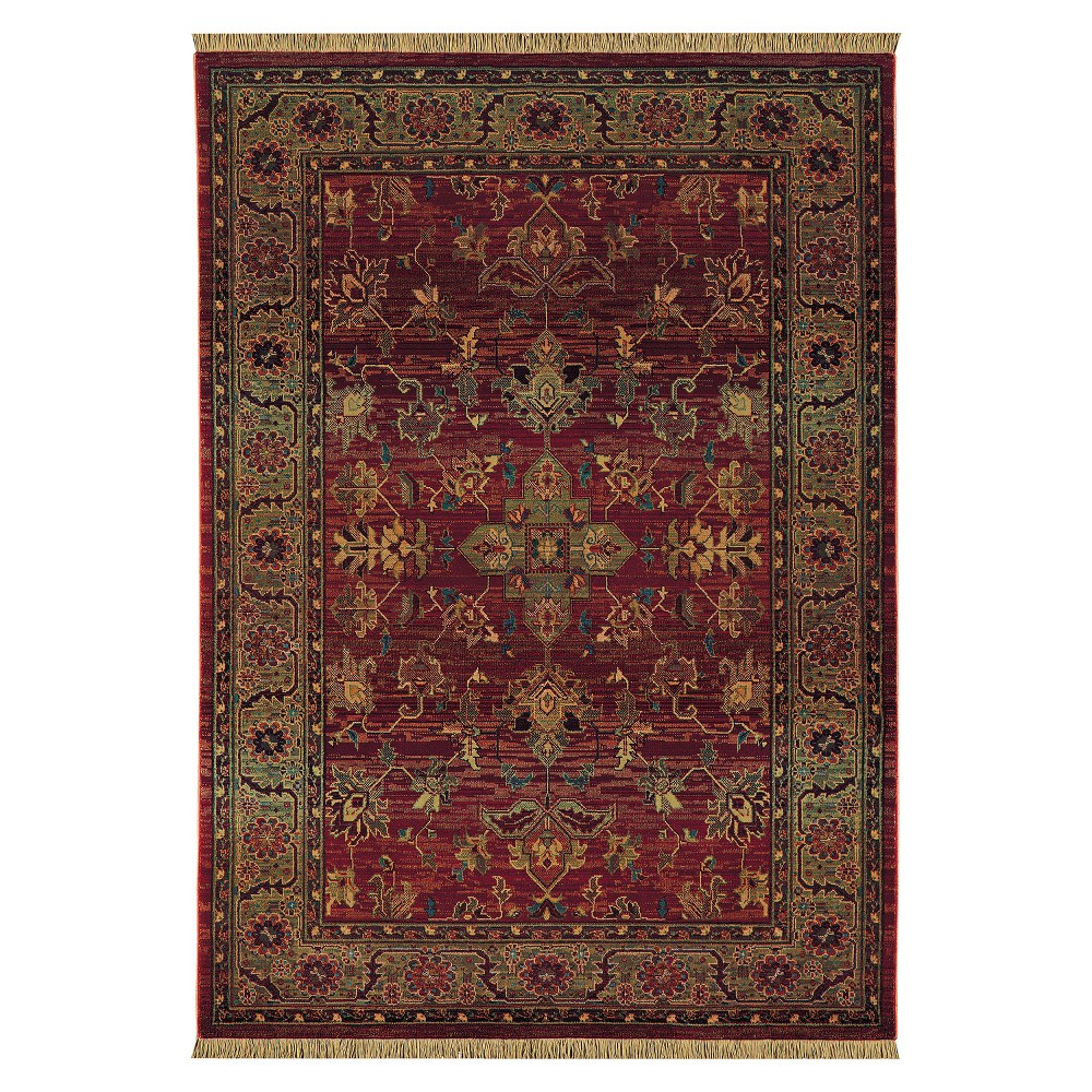 Ansley Area Rug - Red (7'10x11')