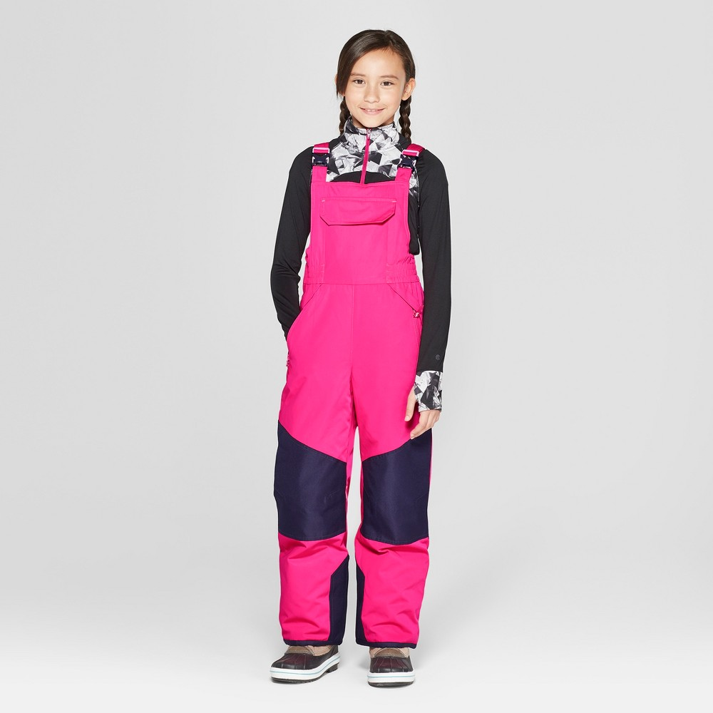 Girls' Snow Bib - C9 Champion Pink M