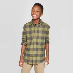 Boys' Long Sleeve Button-Down Shirts - Cat & Jack™ Green
