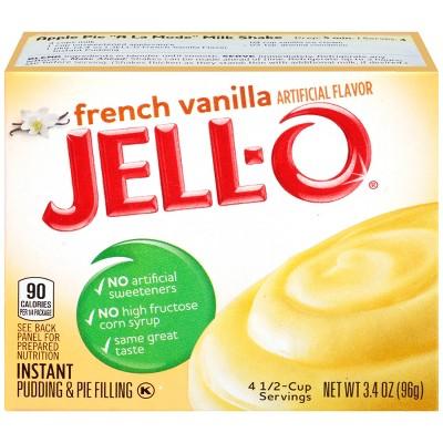 Jello O French Vanilla Instant Pudding Pie Filling 3 4oz Target