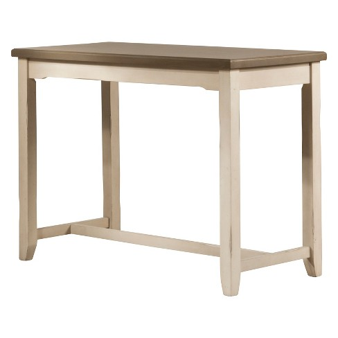 Clarion Counter Height Side Table Distressed Gray Sea White Hilale Furniture Target