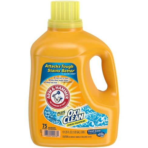Arm & Hammer Plus OxiClean Fresh Scent Liquid Laundry Detergent - 131.25 oz - image 1 of 4