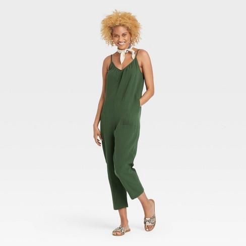 Women's Sleeveless Gauze Jumpsuit - Universal Thread™ - image 1 of 3