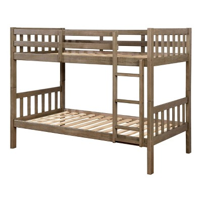 Twin Over Twin Kids' Esme Bunk Bed Wire Brushed Warm Gray - ioHOMES