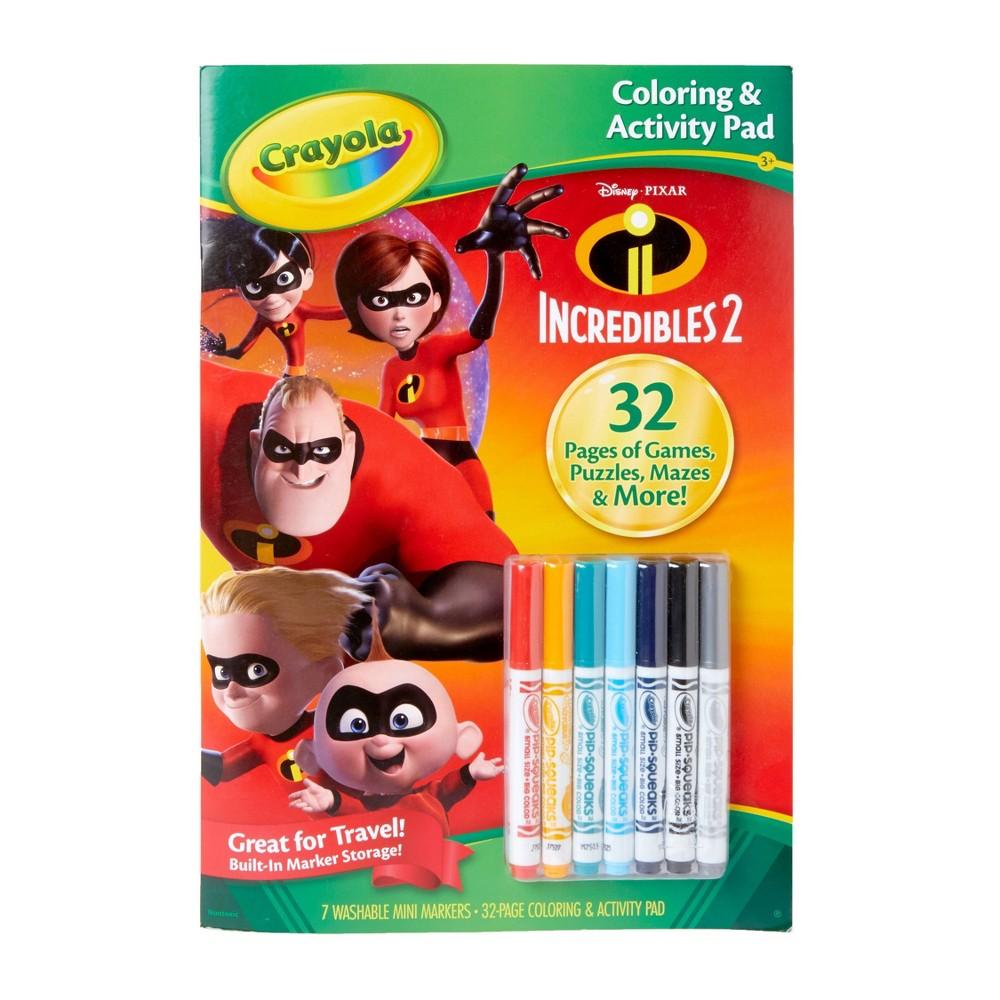 Crayola 32pg Incredibles 2 Coloring & Activity Pad, Multi-Colored