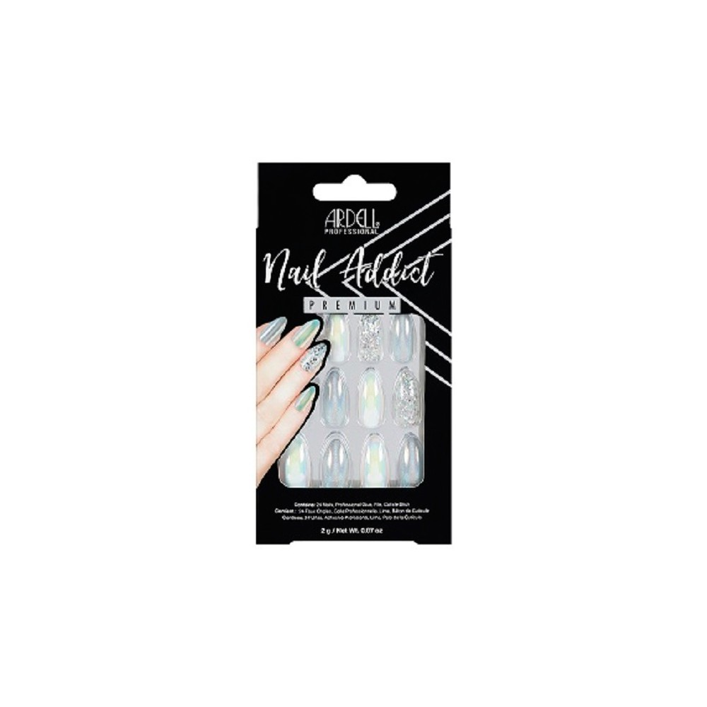 Image of Ardell Nail Addict False Nails Holographic Glitter - 24ct