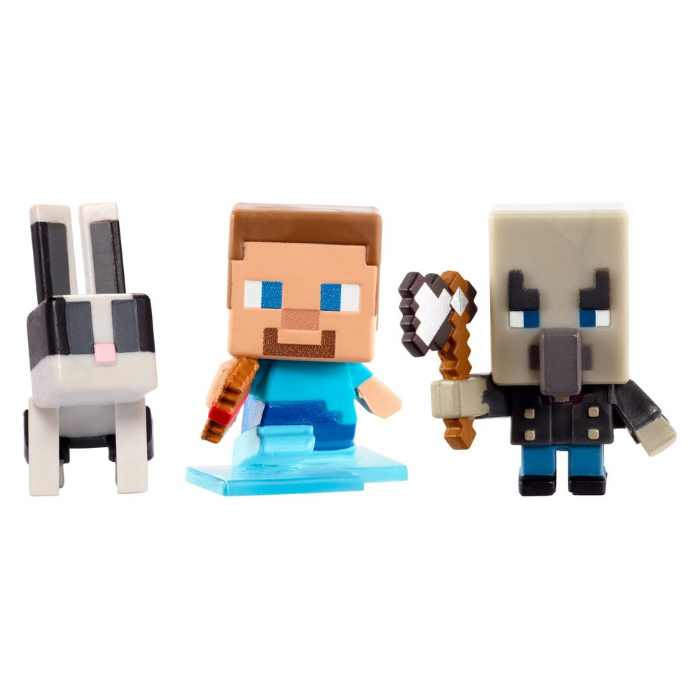 Minecraft Build-A-Mini 3pk - Steve with Frostwalker Boots, Vindicator, and Toast