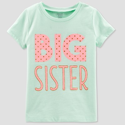 Toddler Girls' Sister Short sleeve T - Shirt - Just One You® made by carter's Mint 3T