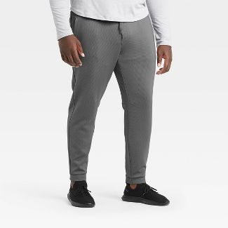 Men's Textured Fleece Premium Pants - All in Motion™ Gray M