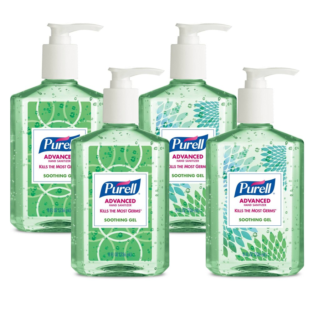 Image of PURELL Advanced Hand Sanitizer Soothing Gel with Aloe and Vitamin E Design Series - 4ct/8 fl oz, Size: 32 fl oz