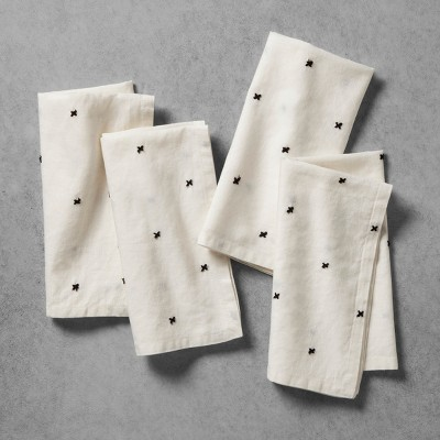 X Pattern Napkins (Set of 4)- Cream - Hearth & Hand™ with Magnolia