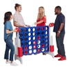 ECR4Kids Jumbo Four-To-Score Giant Game-Indoor/Outdoor 4-In-A-Row Connect - Red, White, and Blue - image 4 of 4