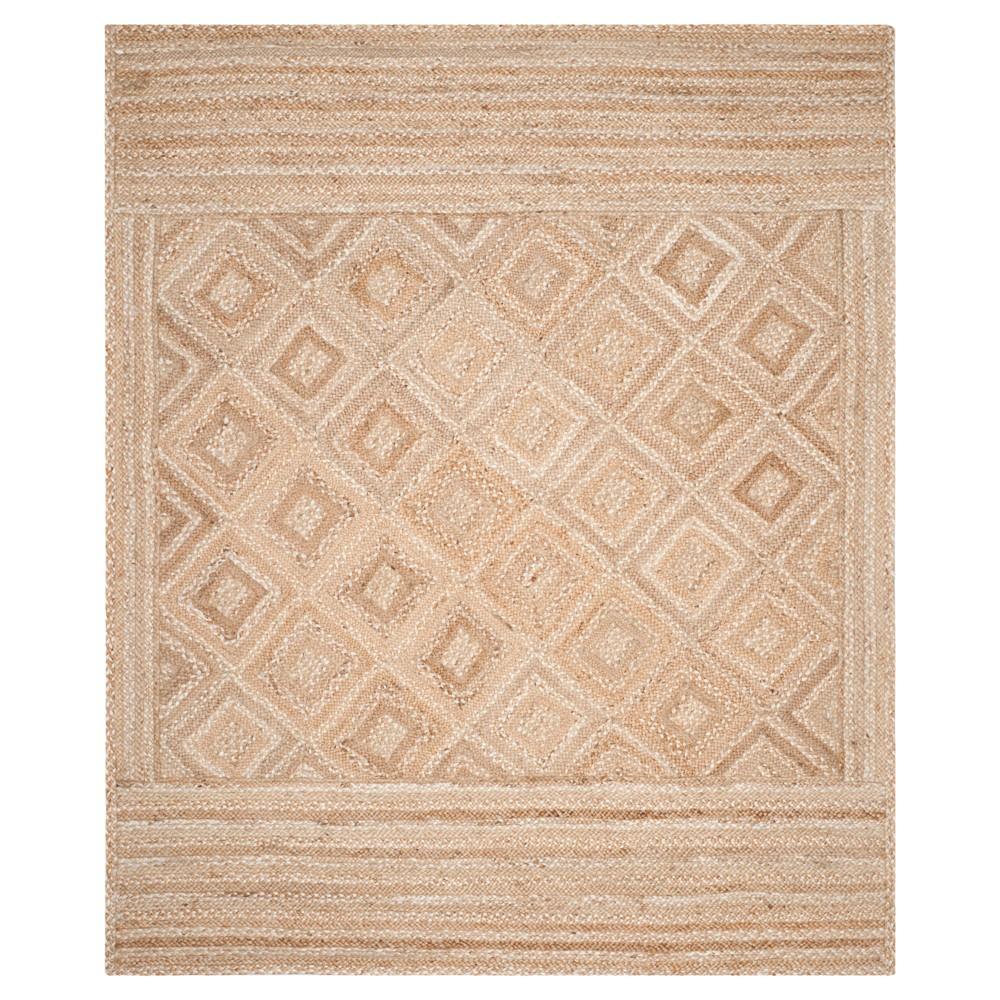 Natural Geometric Woven Area Rug - (9'X12') - Safavieh, White