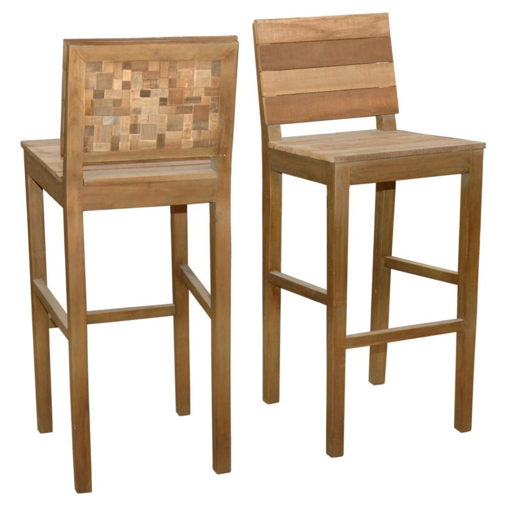 Moza 30 Barstool Wood/Tan - Jeffan
