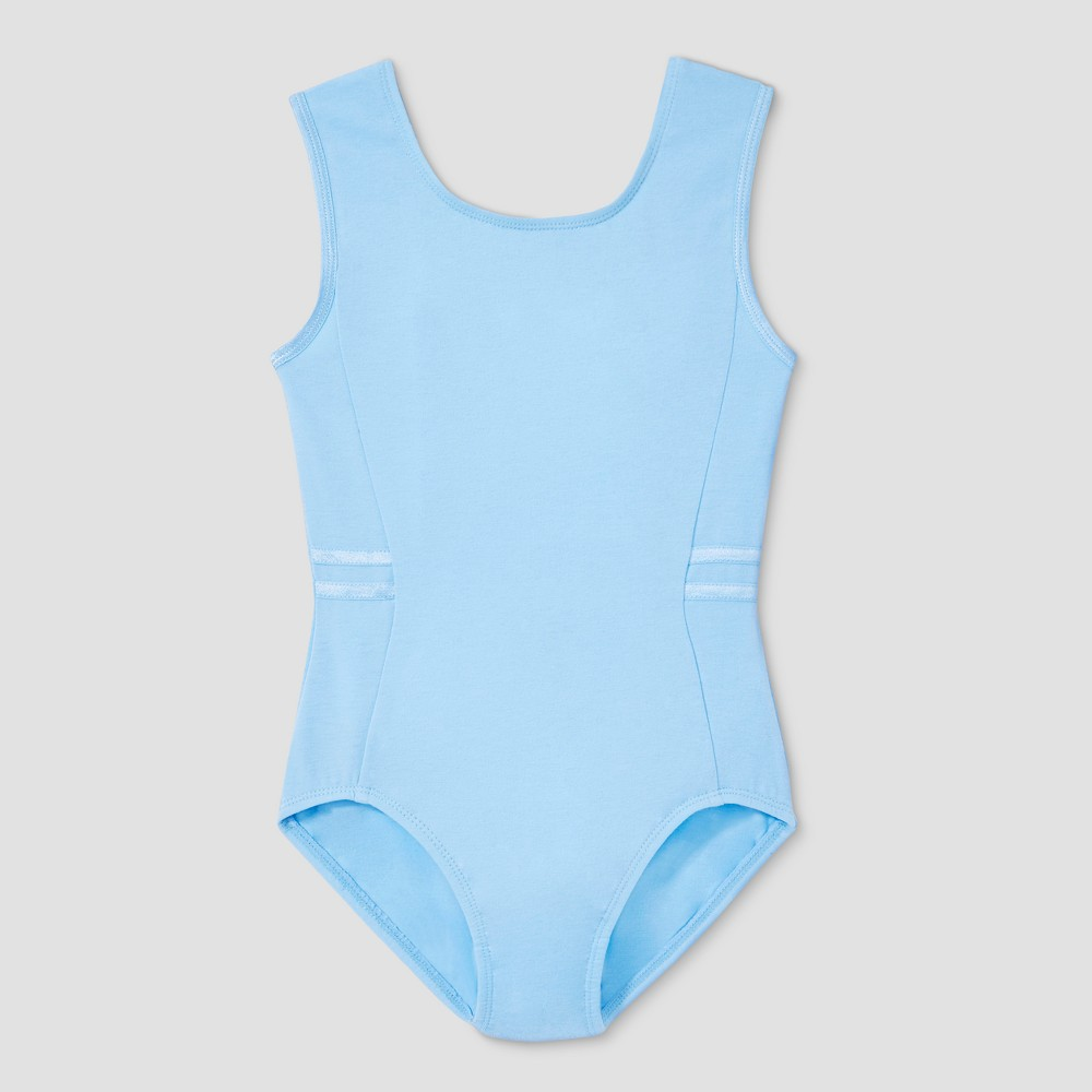 Freestyle by Danskin Girls' Tank Leotard - Light Blue M