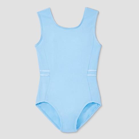 df122bb28 Freestyle By Danskin Girls  Tank Leotard - Light Blue M   Target