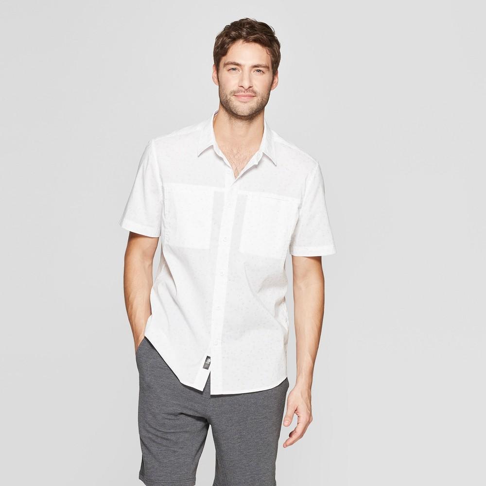 Mpg Sport Men's Woven Button-Down Shirt - White M