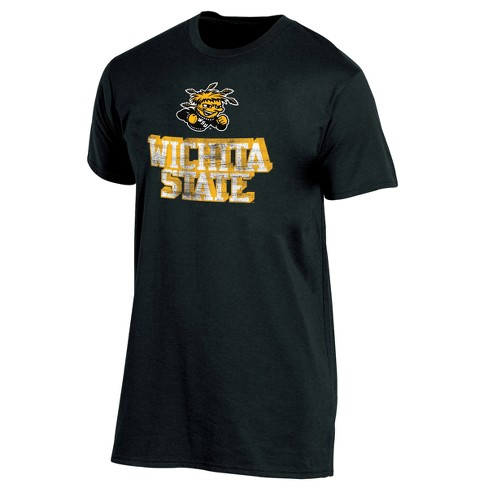 Wichita State Shockers Men's Short Sleeve Keep the Lights On Bi-Blend Gray Heathered T-Shirt S - image 1 of 2