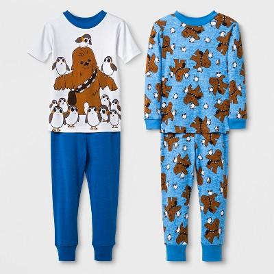 Toddler Boys' Star Wars 4pc Pajama Set - Blue 2T