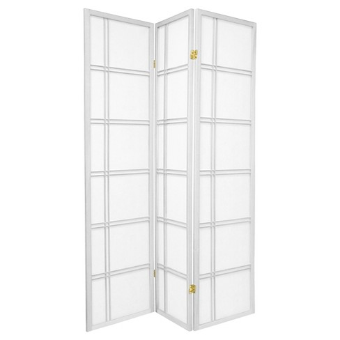 6 ft. Tall Double Cross Shoji Screen - White (3 Panels) - image 1 of 1