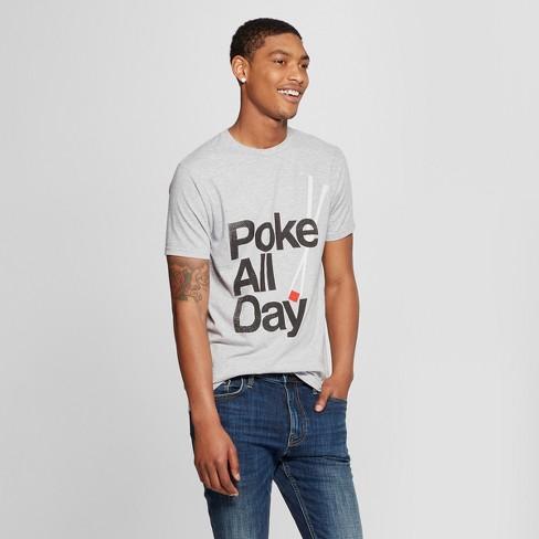 94546b61 Men's Short Sleeve Poke All Day Graphic T-Shirt - Awake Heather Gray ...