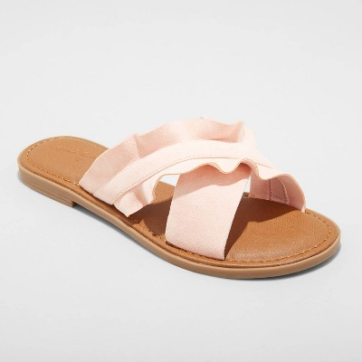 Women's Holland Ruffled Crossband Sandals - Universal Thread™
