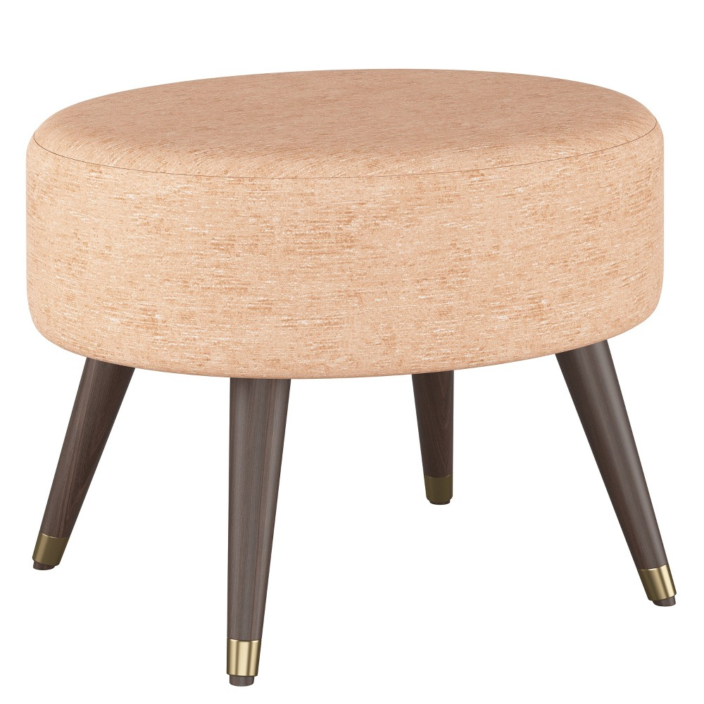 Farwell Oval Ottoman with Gold Caps Churchill Rosequartz - Project 62