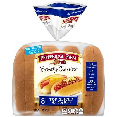 Pepperidge Farm Bakery Classics Top Sliced Whit eHot Dog Buns - 14oz/8ct